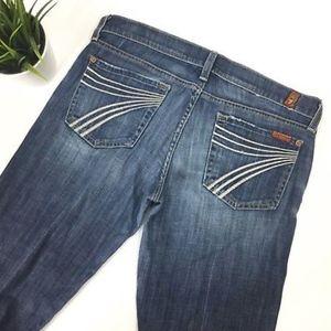 7 For All Mankind Dojo Wide Leg Jeans Size 28